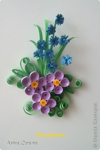 Поделка, изделие Бумагопластика, Квиллинг: Магнитики для души- Полевые цветы Бумага. Фото 10