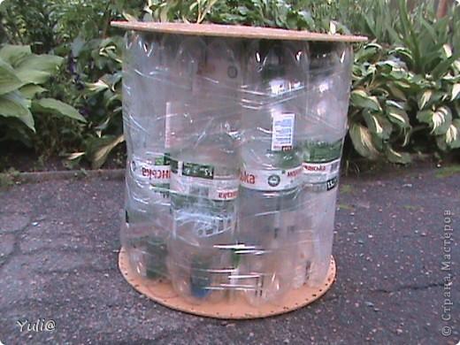 Пуфик из пластиковых бутылок своими руками видео