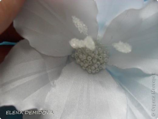 Мастер-класс Цумами Канзаши: Лилия - МК Бисер, Ленты, Ткань Отдых. Фото 16