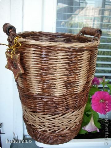 Мастер-класс Плетение: узор и загибка в корзине Бумага. Фото 1