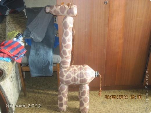 Как сделать жирафа из бутылок своими руками видео