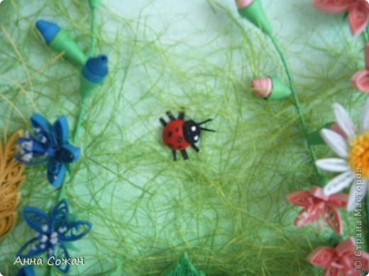 Картина, панно Бумагопластика, Квиллинг: На моём лугу цветы -для души и красоты! Бумага, Пастель День рождения. Фото 8