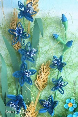 Картина, панно Бумагопластика, Квиллинг: На моём лугу цветы -для души и красоты! Бумага, Пастель День рождения. Фото 9