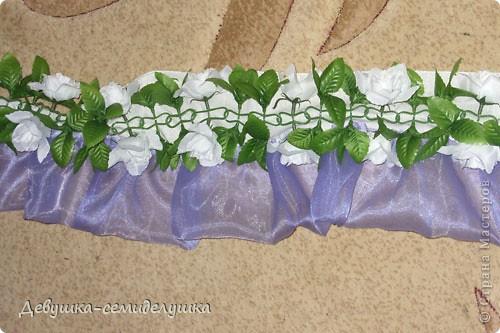 Поделка, изделие: Лавандовая свадьба: арка + Мастер-класс Бусинки, Ткань Свадьба. Фото 48