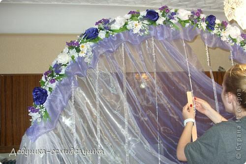 Поделка, изделие: Лавандовая свадьба: арка + Мастер-класс Бусинки, Ткань Свадьба. Фото 52