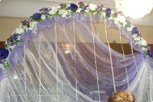 Поделка, изделие: Лавандовая свадьба: арка + Мастер-класс Бусинки, Ткань Свадьба. Фото 42