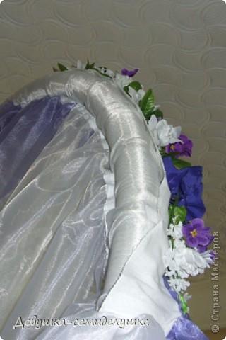 Поделка, изделие: Лавандовая свадьба: арка + Мастер-класс Бусинки, Ткань Свадьба. Фото 51