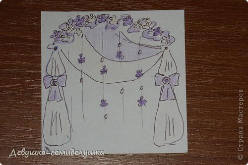 Поделка, изделие: Лавандовая свадьба: арка + Мастер-класс Бусинки, Ткань Свадьба. Фото 2
