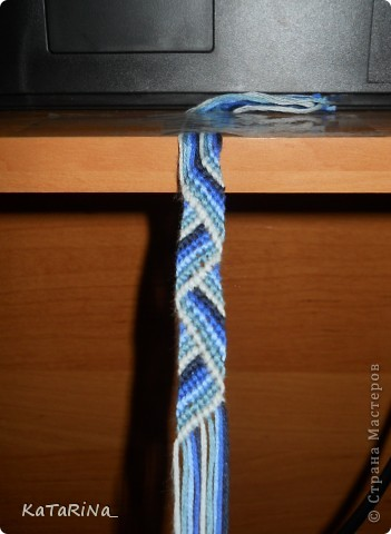Плетение: Фенечка зигзаг