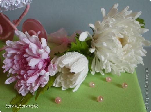 Хризантемы с конфетами мастер класс