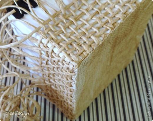 Декор предметов, Мастер-класс, Поделка, изделие Аппликация, Плетение: Коробочки для подарков. Фото 6