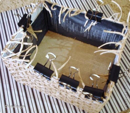 Декор предметов, Мастер-класс, Поделка, изделие Аппликация, Плетение: Коробочки для подарков. Фото 7