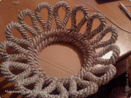 Мастер-класс, Поделка, изделие Плетение: МК хлебницы Бумага газетная. Фото 10