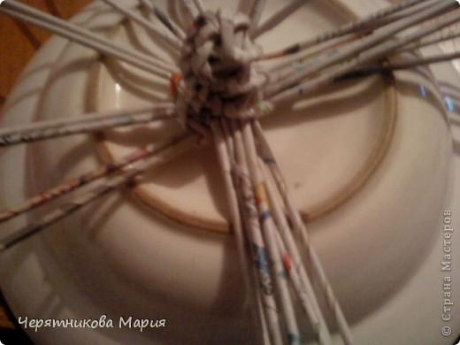 Мастер-класс, Поделка, изделие Плетение: МК хлебницы Бумага газетная. Фото 12