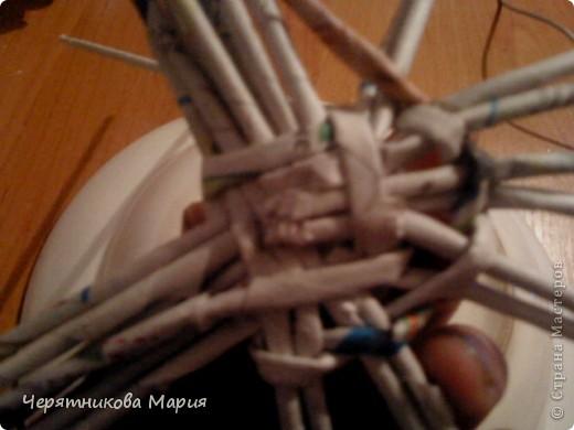 Мастер-класс, Поделка, изделие Плетение: МК хлебницы Бумага газетная. Фото 13
