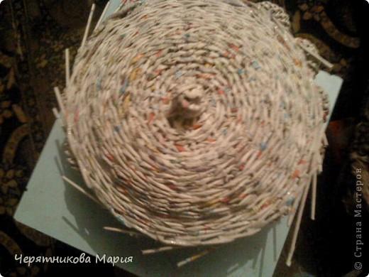 Мастер-класс, Поделка, изделие Плетение: МК хлебницы Бумага газетная. Фото 14