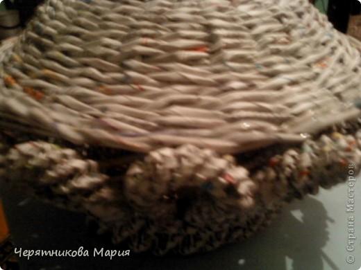 Мастер-класс, Поделка, изделие Плетение: МК хлебницы Бумага газетная. Фото 15