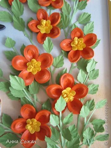 Картина, рисунок, панно Бумагопластика, Квиллинг: На даче Бумага Отдых. Фото 10