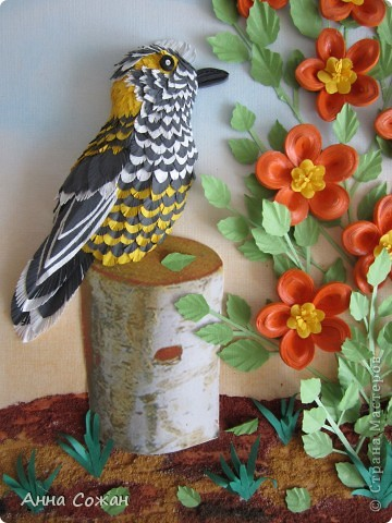 Картина, рисунок, панно Бумагопластика, Квиллинг: На даче Бумага Отдых. Фото 2
