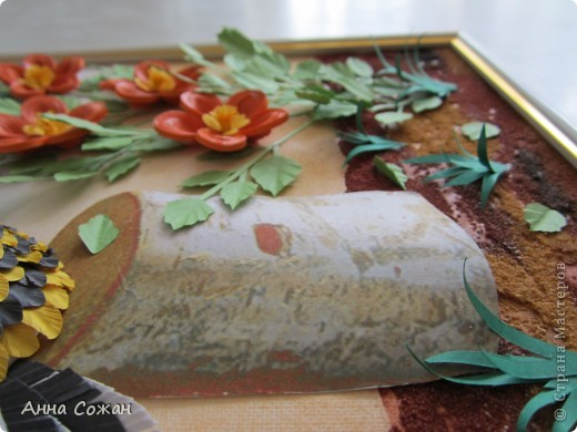 Картина, рисунок, панно Бумагопластика, Квиллинг: На даче Бумага Отдых. Фото 3