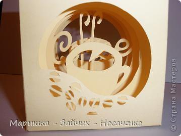Мастер-класс, Поделка, изделие Бумажный туннель, Вырезание: Кофейный кубик Бумага Отдых. Фото 2