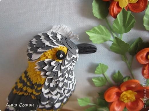 Картина, рисунок, панно Бумагопластика, Квиллинг: На даче Бумага Отдых. Фото 7