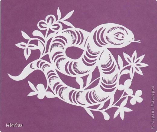 Вытынанка: 2013 - год Змеи