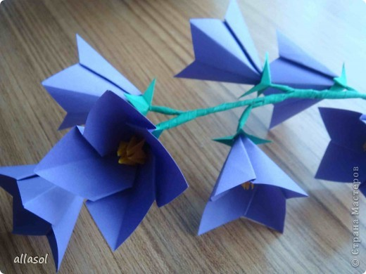 Колокольчик цветок поделка для детей