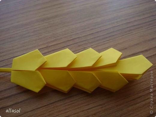 Как с бумаги сделать колосок