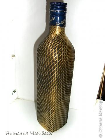 """Мастер-класс Роспись: Как я делала фоновый слой """"Сеточка"""". Небольшой МК Бутылки стеклянные, Краска. Фото 1"""