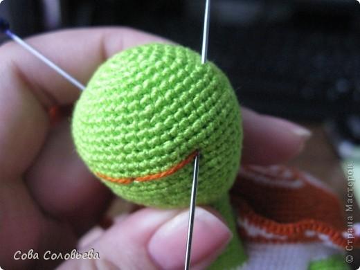 Игрушка, Мастер-класс, Поделка, изделие Вязание крючком: изготовление Черепашки. Фото 26