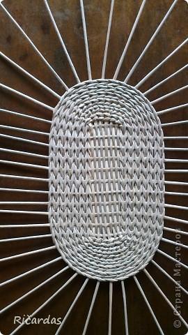 Мастер-класс Плетение: Овальная хлебница+маленький МК Бумага газетная Отдых. Фото 5