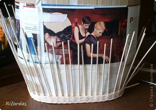 Мастер-класс Плетение: Овальная хлебница+маленький МК Бумага газетная Отдых. Фото 6