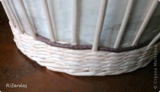 Мастер-класс Плетение: Овальная хлебница+маленький МК Бумага газетная Отдых. Фото 7