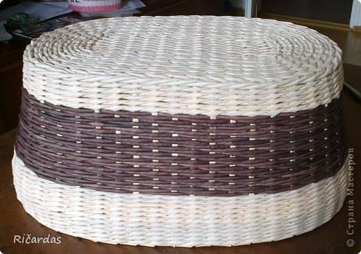 Мастер-класс Плетение: Овальная хлебница+маленький МК Бумага газетная Отдых. Фото 8