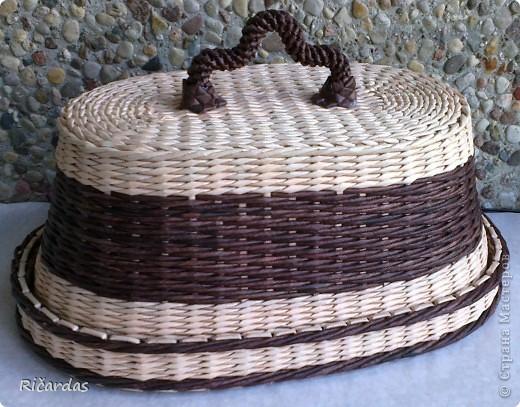 Мастер-класс Плетение: Овальная хлебница+маленький МК Бумага газетная Отдых. Фото 9