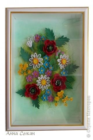 Картина, рисунок, панно Бумагопластика, Квиллинг: Для себя любимой Бумага День рождения, Отдых. Фото 7