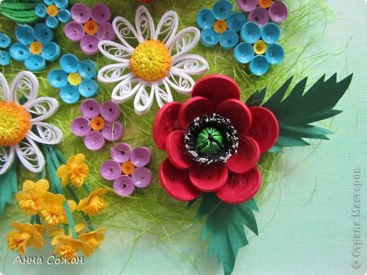 Картина, рисунок, панно Бумагопластика, Квиллинг: Для себя любимой Бумага День рождения, Отдых. Фото 2