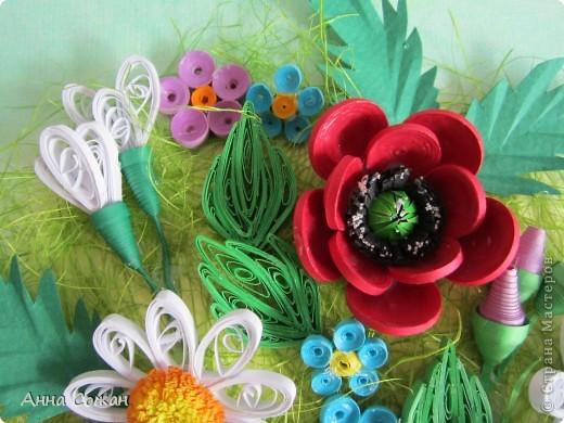 Картина, рисунок, панно Бумагопластика, Квиллинг: Для себя любимой Бумага День рождения, Отдых. Фото 4