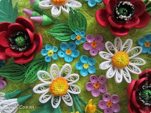 Картина, рисунок, панно Бумагопластика, Квиллинг: Для себя любимой Бумага День рождения, Отдых. Фото 5