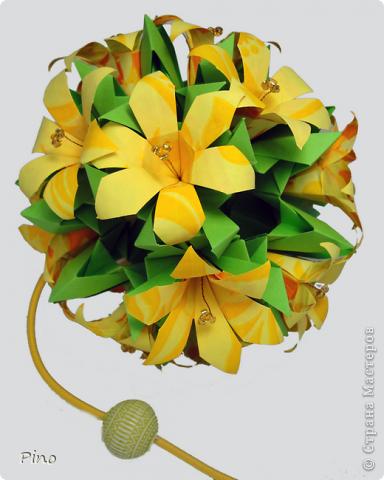 Поделка, изделие Кусудама: Бумажный сад Бумага. Фото 9