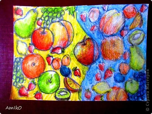 фрукты =) (цветные акварельные