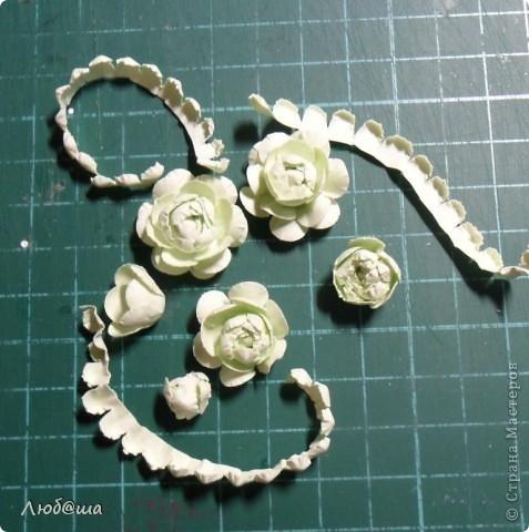 Мастер-класс Бумагопластика: Как я делаю пионы и розы. Бумага, Клей. Фото 23