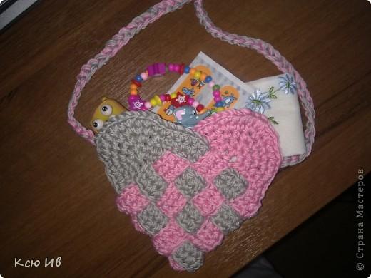Гардероб, Мастер-класс Вязание крючком: Маленькая сумочка для принцесс! Нитки Отдых. Фото 1