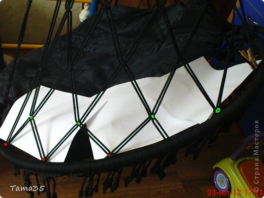 Интерьер, Мастер-класс Макраме: мастер класс по плетению кресла (часть 2) Шпагат Дебют. Фото 33