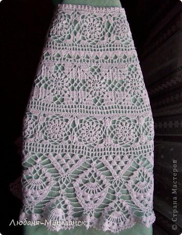 Схема вязания ажурной юбки