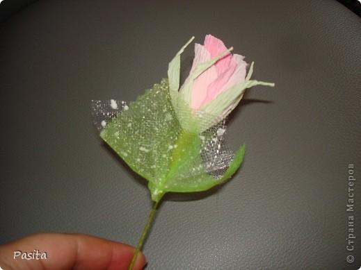 Мастер-класс, Свит-дизайн Моделирование: Бутон розы МК Бумага гофрированная. Фото 1
