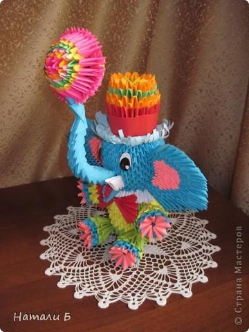 Модульное оригами слоник циркач мастер класс