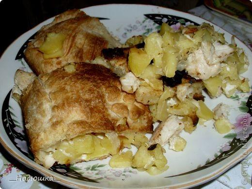 Кулинария, Мастер-класс Рецепт кулинарный: Пирог с картошкой и курицей из слоёного теста (+МК) Продукты пищевые. Фото 1