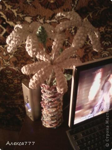 Мастер-класс Плетение: Мои ромашечки Бумага газетная, Бумага журнальная, Вата, Клей, Нитки. Фото 13